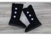 UGG Bailey Button Triplet Bling Black - Фото 4