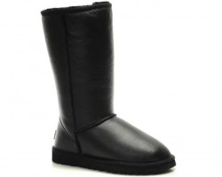 UGG CLASSIC TALL II BOOT LEATHER BLACK