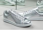 Кроссовки Raf Simons x Adidas Stan Smith Metallic Silver - Фото 2