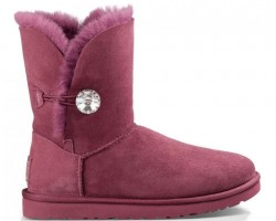 UGG BAILEY BUTTON II BLING BOOT BORDO