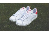Кроссовки Adidas Stan Smith White/Red - Фото 3