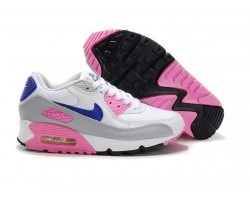 Кроссовки Nike Air Max 90 White/Blue/Rose/Grey Tape