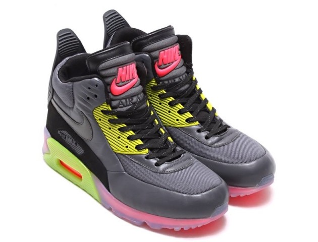 Кроссовки Nike Air Max 90 SneakerBoot Ice Dark Grey/Black/Force Green/Hyper