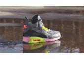 Кроссовки Nike Air Max 90 SneakerBoot Ice Dark Grey/Black/Force Green/Hyper - Фото 2