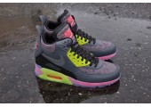 Кроссовки Nike Air Max 90 SneakerBoot Ice Dark Grey/Black/Force Green/Hyper - Фото 5