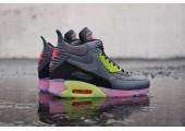 Кроссовки Nike Air Max 90 SneakerBoot Ice Dark Grey/Black/Force Green/Hyper - Фото 4