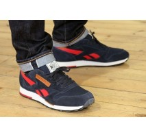 Кроссовки Reebok CL Leather Utility Blue/Red