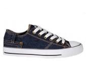 Кеды Converse Chuck Taylor Retro Classic Denim Lo Sneakers Navy Blue - Фото 1