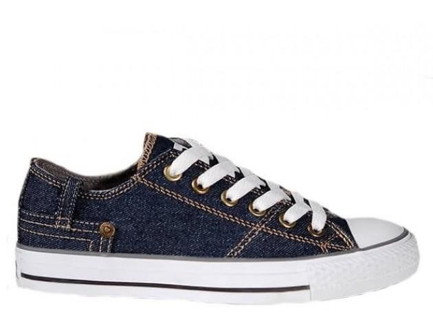 Кеды Converse Chuck Taylor Retro Classic Denim Lo Sneakers Navy Blue