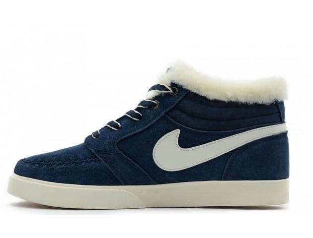 Кроссовки Nike Blazer Mid Navy С МЕХОМ