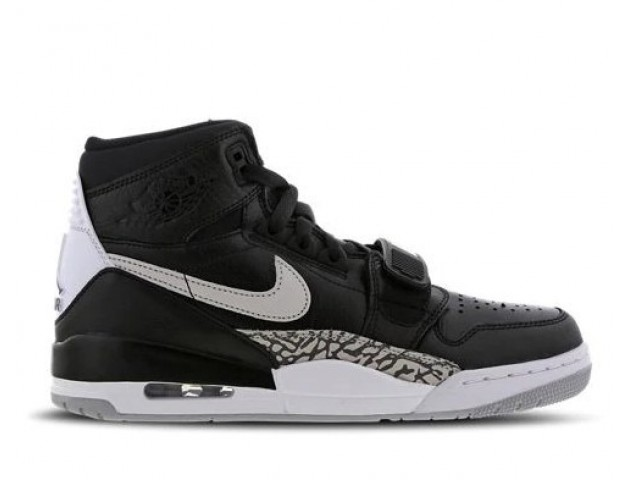 Баскетбольные кроссовки Nike Air Jordan Legacy 312 Black/Elephant Print/White