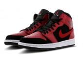 Баскетбольные кроссовки Nike Air Jordan 1 Mid Red/Black - Фото 4