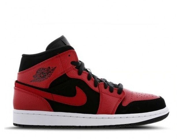 Баскетбольные кроссовки Nike Air Jordan 1 Mid Red/Black