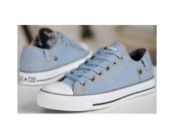 Кеды Converse Chuck Taylor Retro Classic Denim Lo Sneakers Light Blue