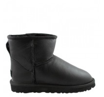 UGG CLASSIC MINI BOOT LEATHER BLACK