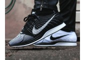 Кроссовки Nike Flyknit Racer Black/White - Фото 2