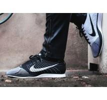 Кроссовки Nike Flyknit Racer Black/White