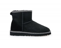 UGG CLASSIC MINI II BOOT LIBERTY BLACK
