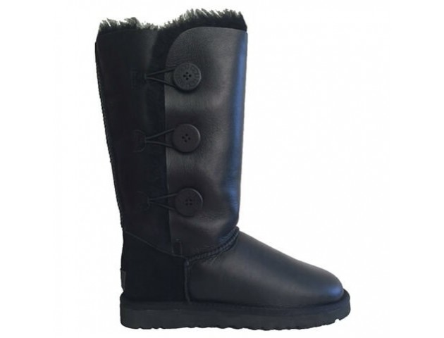 UGG Bailey Button Triplet II Leather Black